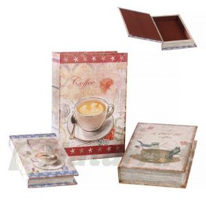 412037 CARTE LEMN SET/3 30-27-21 / 21-17-13 COFFEE