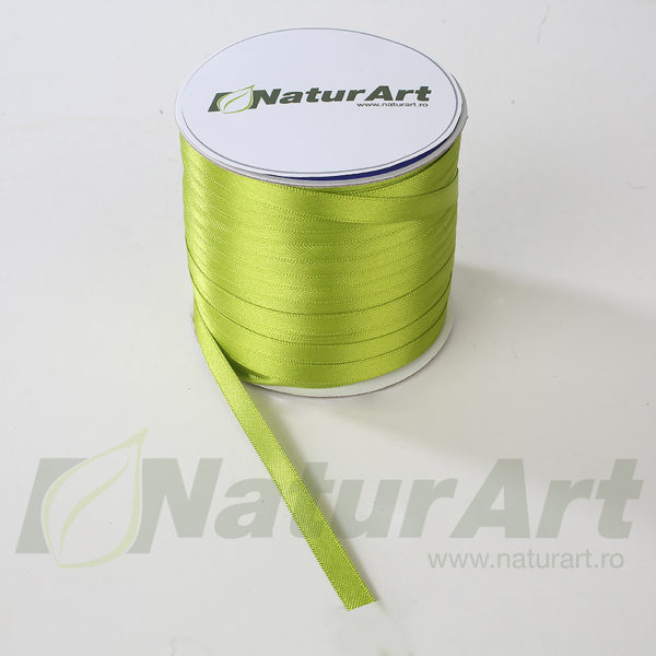 1474P SATEN 6mm/100m DUBLA FATA VERDE MAR-APPLE GREEN