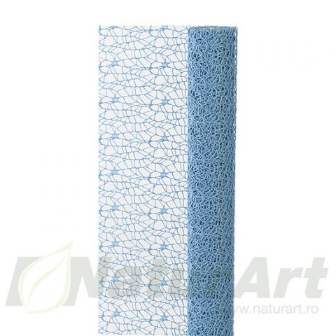 PLASA DANTELA 48cmx5m BLEU ALBASTRU
